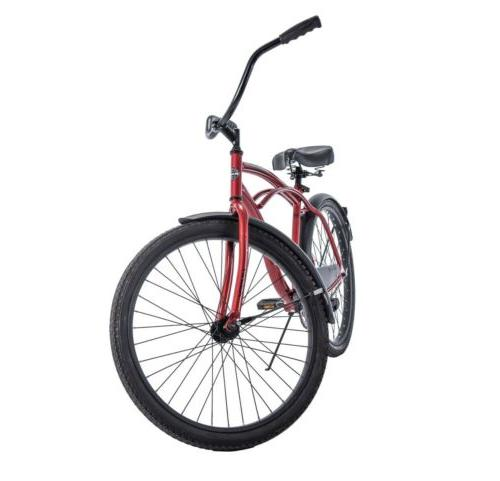 "Huffy 26"" Cranbrook Beach Cruiser Comfort Bike for Men, Red"