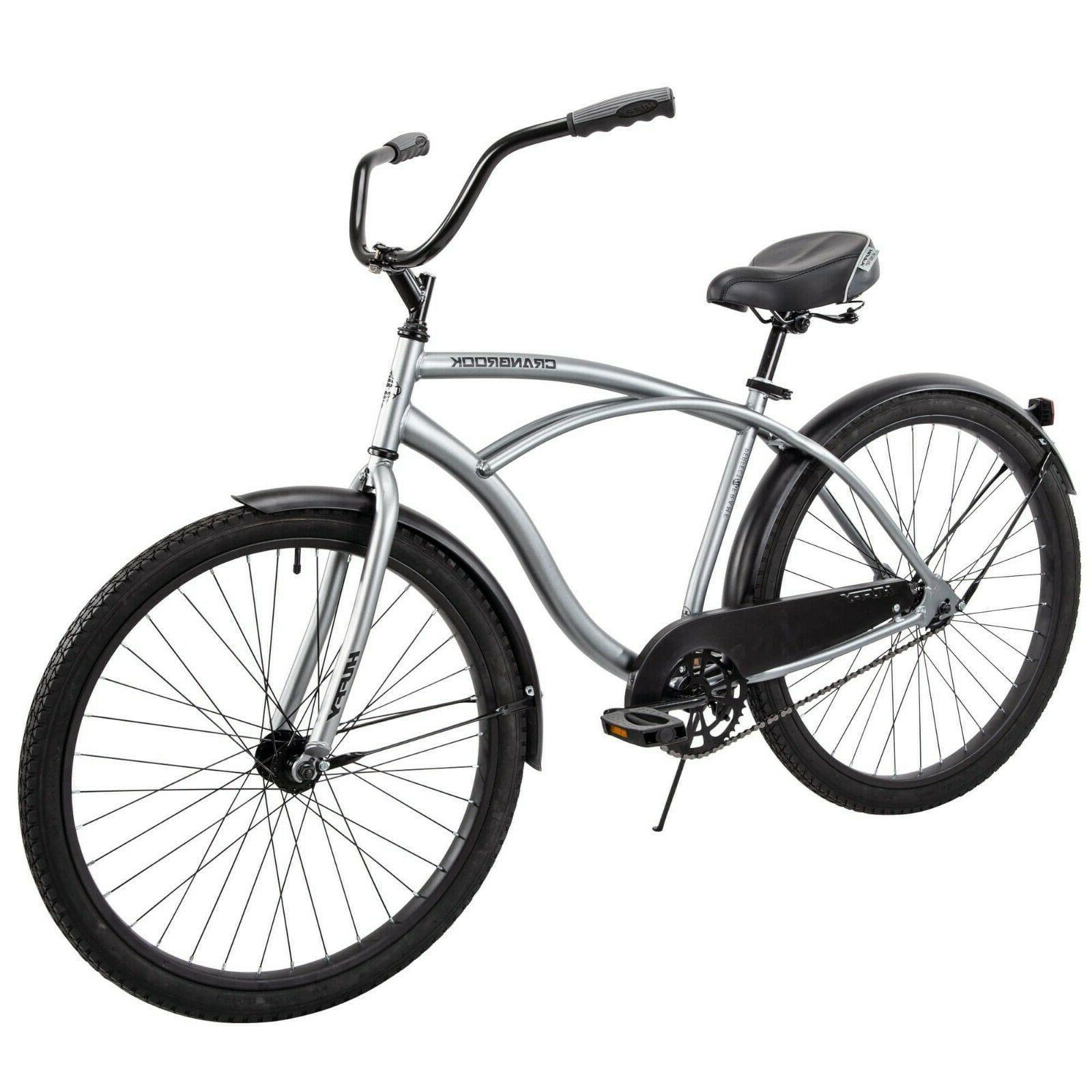 "Silver Huffy 26/"" Cranbrook Men/'s Beach Cruiser Comfort Bike"