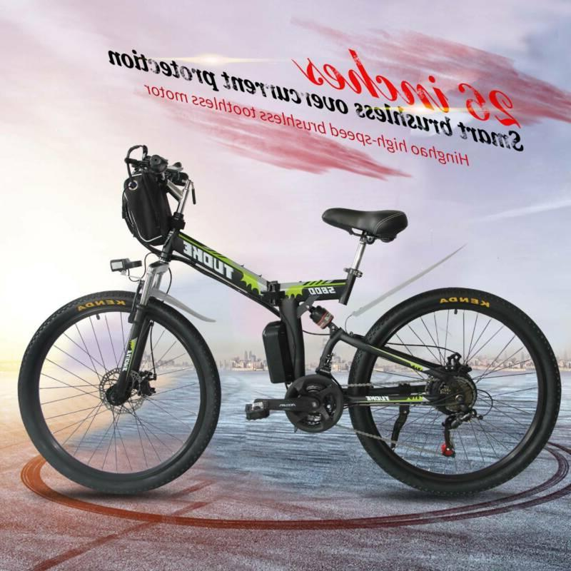 26 electric folding bike mountain bicycle ebike