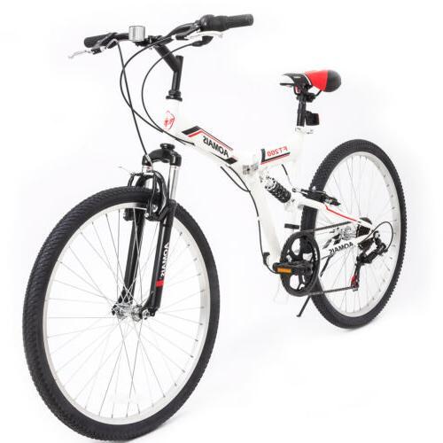 26 folding mountain bike 7 speed bicycle