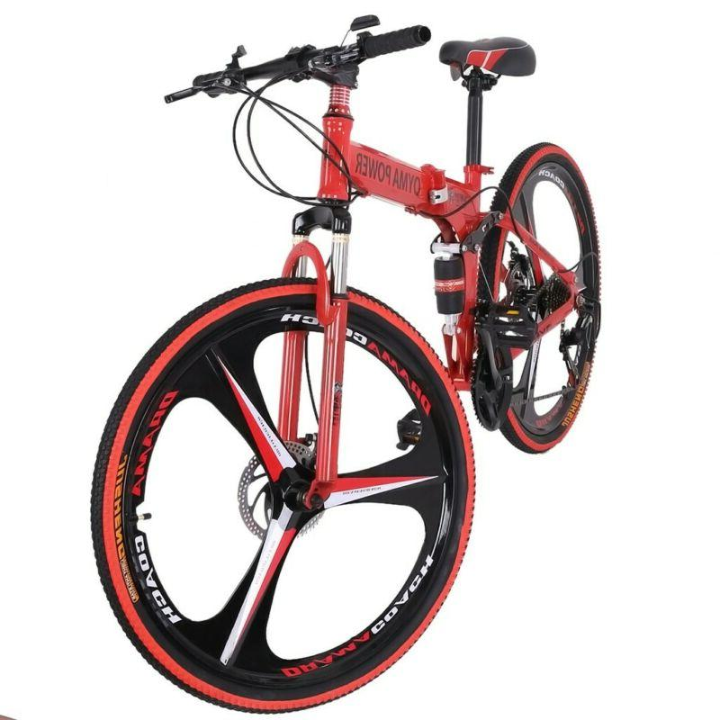 Eurobike Folding Bike Shimano Speed Full Suspension Bicycle