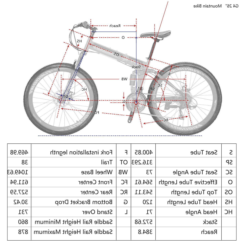 """26"""" Full Bike 21 Bicycle Men MTB"""