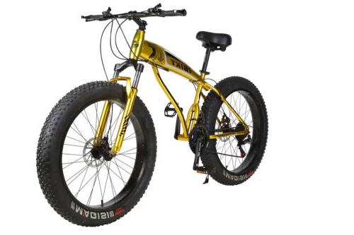 26 Inch 21 Speed 4.0 Fat Tire Bike Snow and Grass Sand Bike