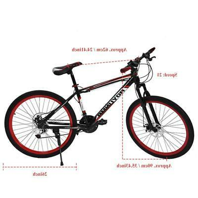 "26"" Mountain Bike Disc Brake Damping Speed Adults Bikes Update Bicycle"