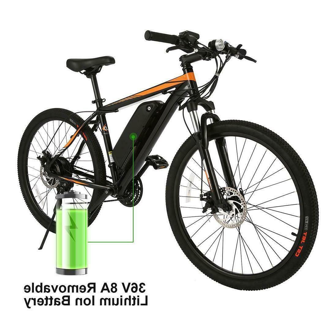 350W 26'' Electric Bike Moutain Bicycle E-Bike Shimano Dampi