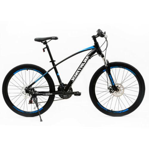 "27.5"" Aluminum Mountain Bike Front Suspension Bicycle Disc B"
