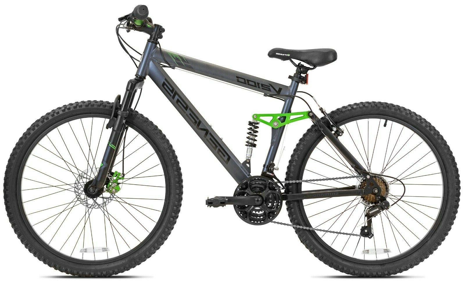 "Genesis 26"" V2100 Men's Dual Suspension Mountain Bike Gray N"