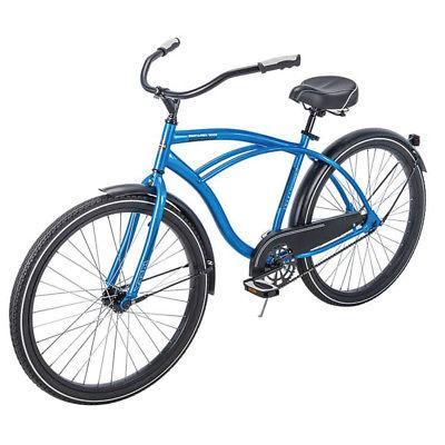 Huffy 26 Good Vibrations Fit Frame Cruiser Bike, Blue