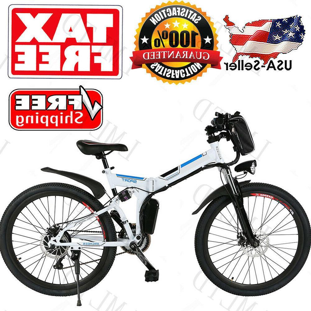 "26"" Folding Electric Bike City Mountain Cycling EBike 36V 25"