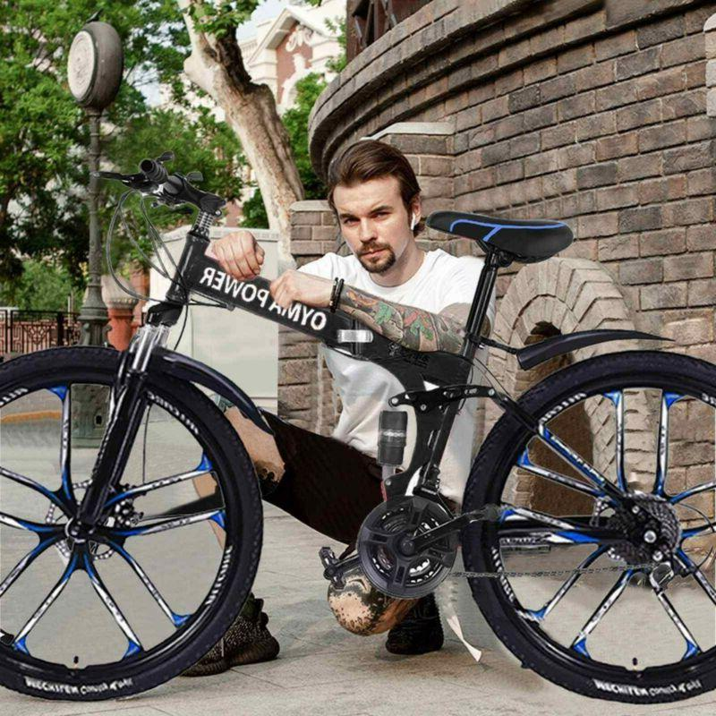"Outroad Mountain Bike  21 Speed 26"" Folding Bike Double Disc"