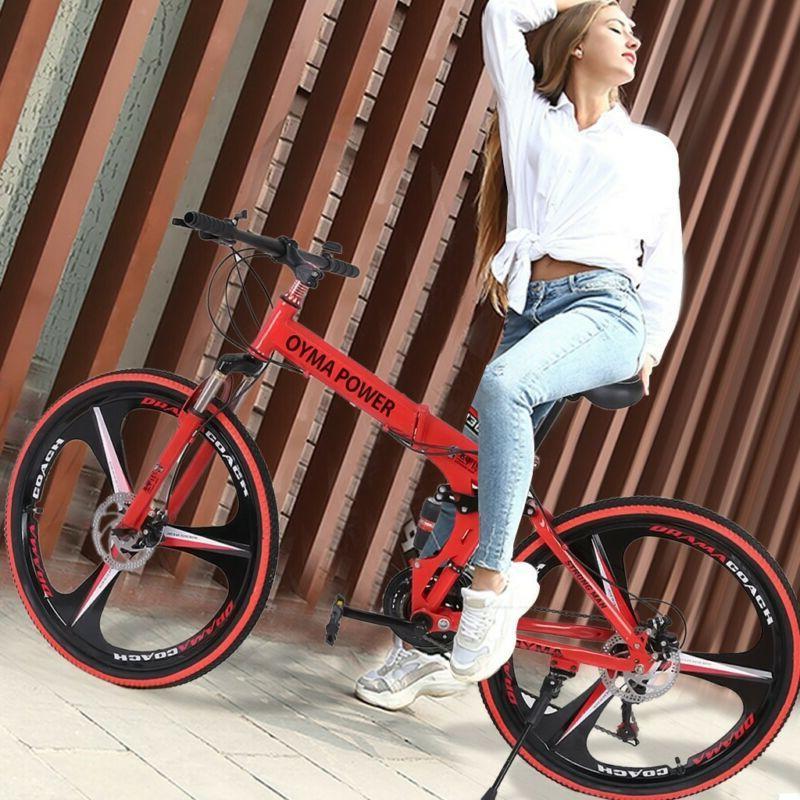 26in Folding Shimanos 21 Speed Full MTB Bikes