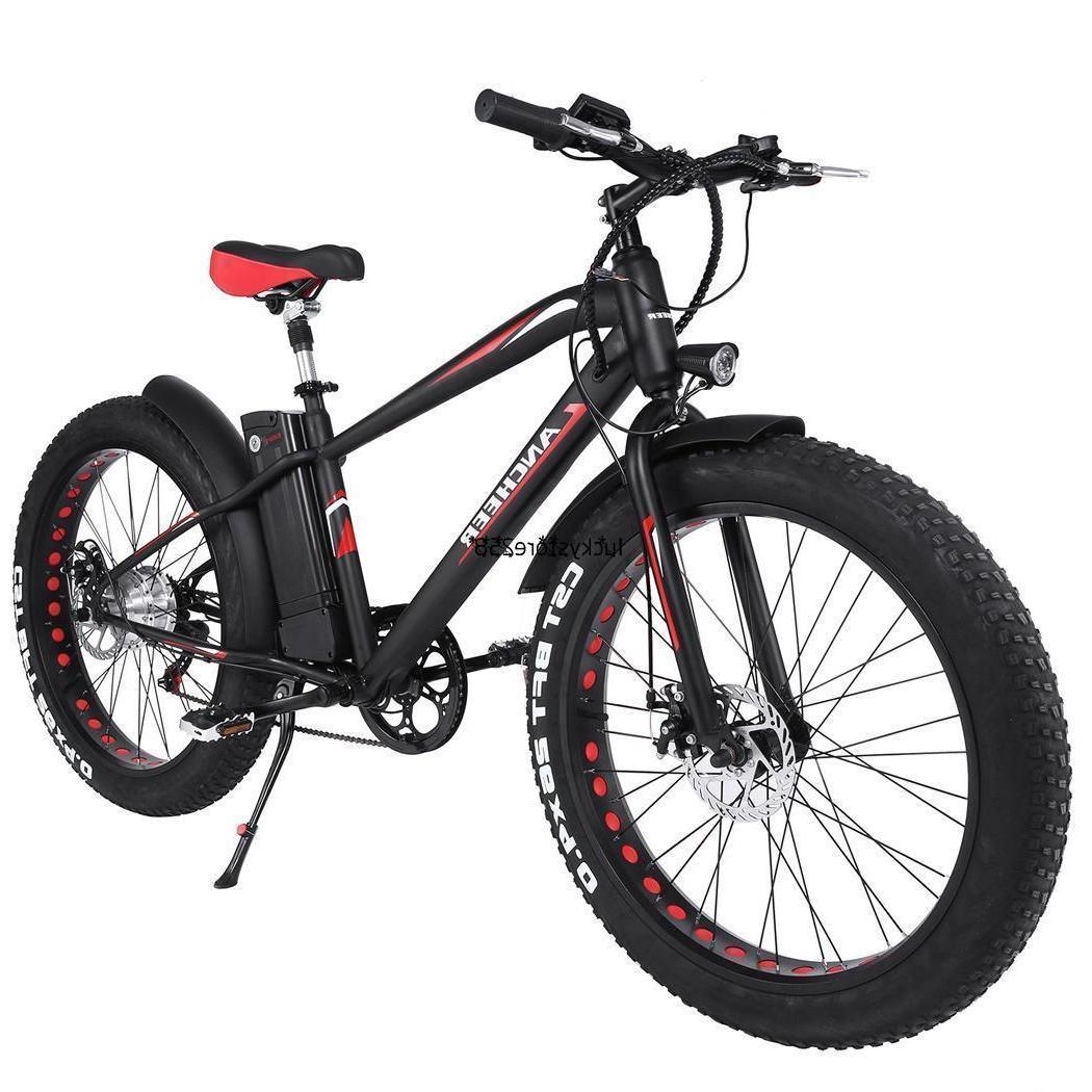 "26"" Folding Mountain Bike Hybrid Bike Electric 7 Speeds Full"