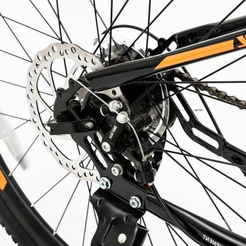 "26"" Bicycle 21 Frame Brakes Suspension"
