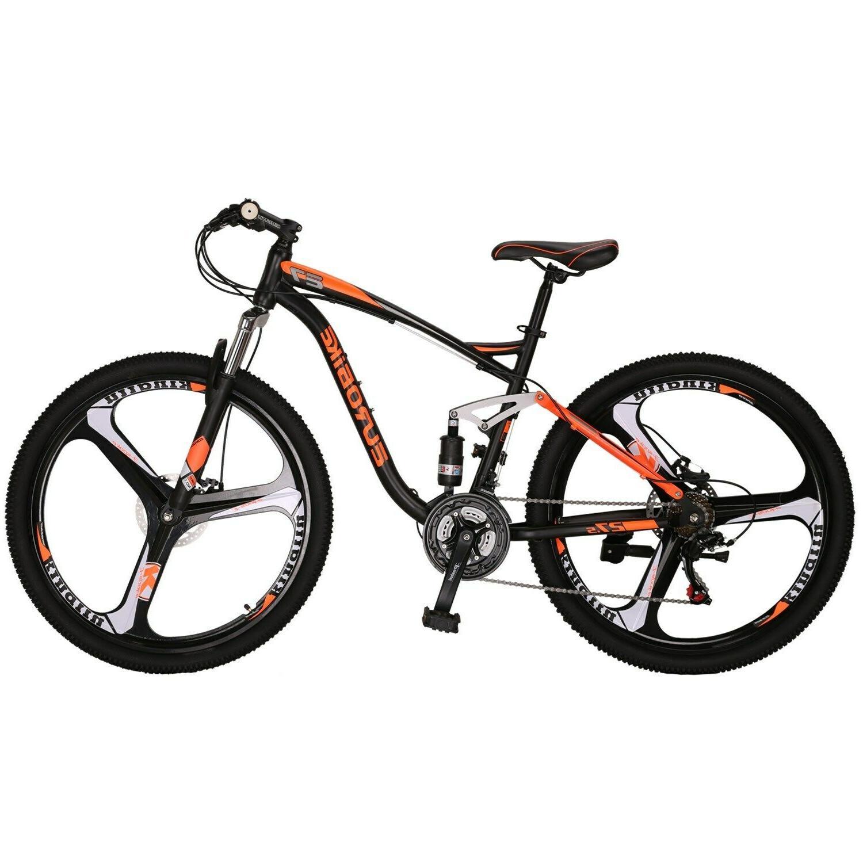 Full Suspension Mountain Bike Shimano 21 Speed Disc Brake Me