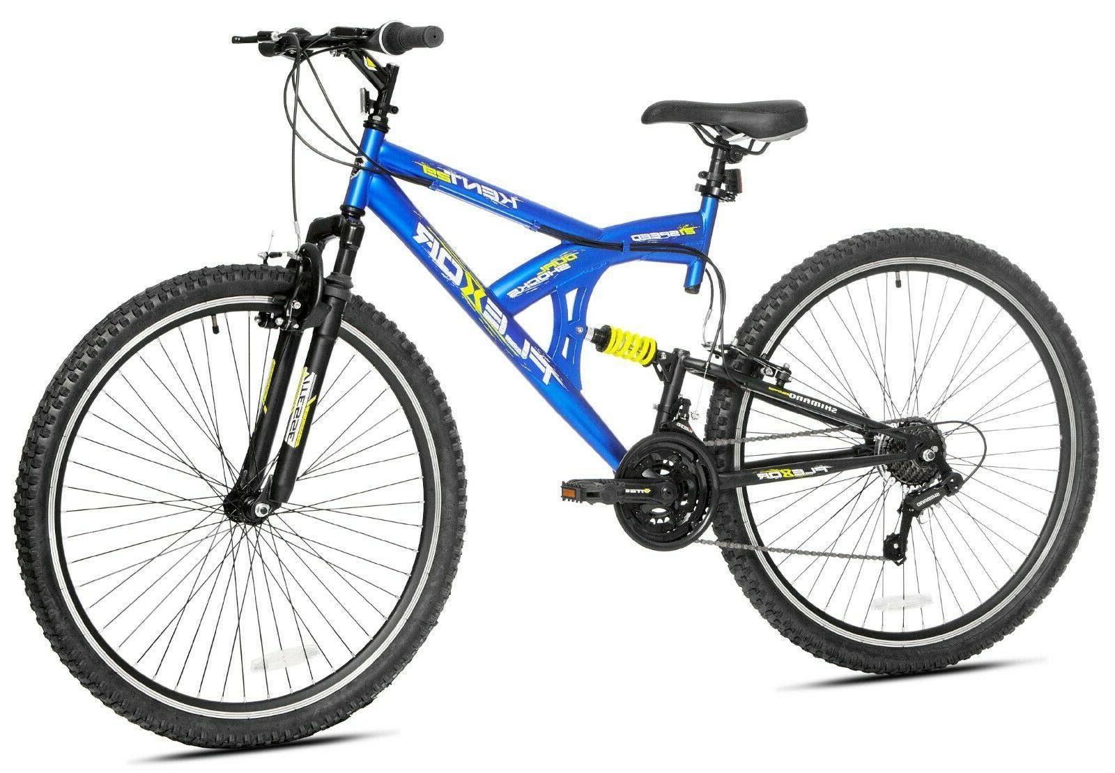 29 flexor mens dual suspension mountain bike