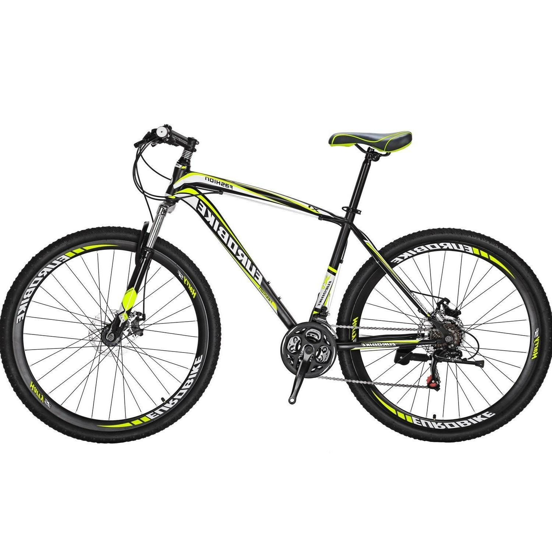 29er Mountain Bike 21 Speed Bicycle Mens Bikes Disc Brakes F