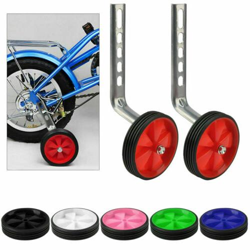 2pcs Bicycle Mute Training Wheels 12-20 inch Single Bicycle