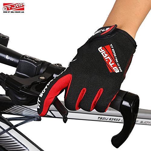Arltb Gloves Cycling Biking Full Pad Lightweight Bike Mountain BMX