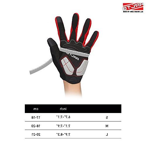 Arltb Gloves 3 Colors Cycling Gloves Full Finger Lightweight Bike Motorcycle BMX Fitness Climbing