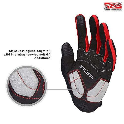 Arltb Size Gloves 3 Cycling Biking Full Finger Lightweight Mountain Bike Motorcycle BMX Lifting Climbing