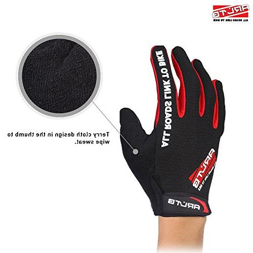 Arltb Gloves Cycling Biking Full Pad Lightweight Bike Mountain Bike Free