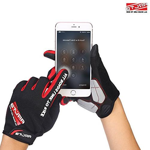 Arltb Size Bike Gloves Colors Cycling Gloves Mitts Full Pad Lightweight BMX Lifting