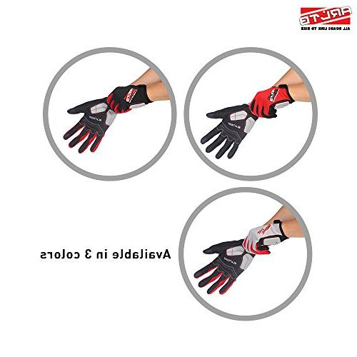 Arltb Size Gloves 3 Colors Bicycle Cycling Biking Gloves Mitts Full Finger Lightweight Riding Mountain Bike Motorcycle Free Cycle BMX