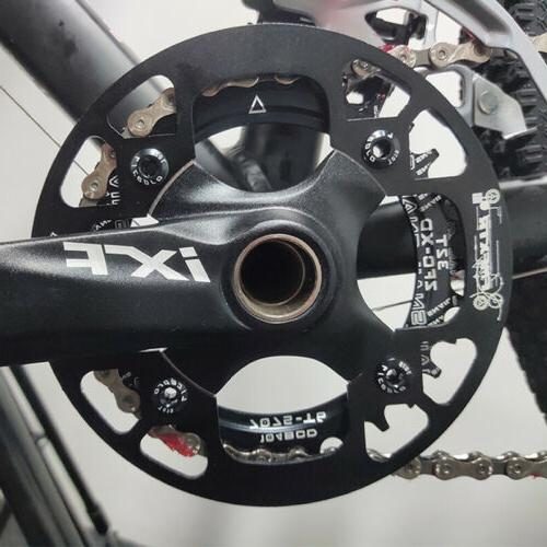 SNAIL 32-42t BCD104mm Round//Oval MTB Road Bike Single Chainset Chainring Guard