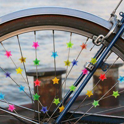 36X Bicycle Kids Bike Spoke Beads Spokey Dokeys Multi Colour
