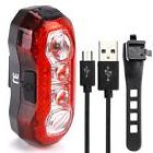 4 LED Bicycle Cycling Tail Lights Rear USB Rechargeable Red
