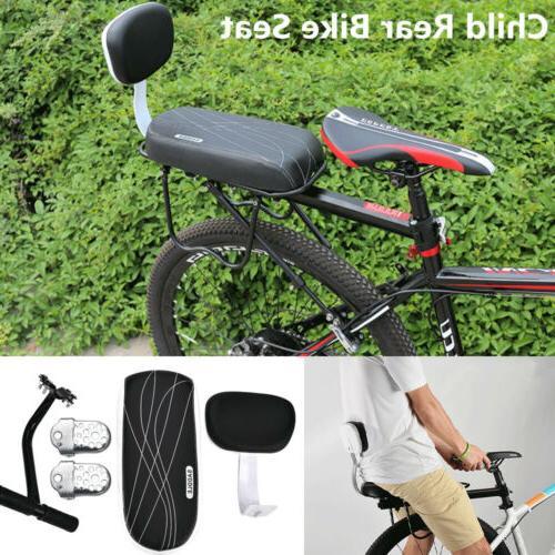Bicycle Bike Rear Seat Cushion Rack Armrest Footrest