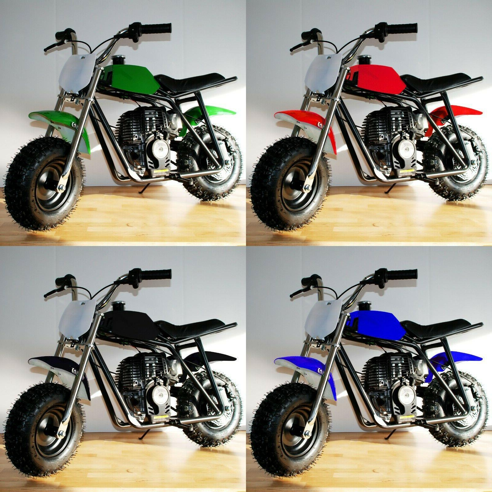 40cc gas powered mini bike 4 colors
