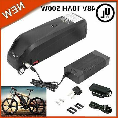 48V 10Ah HaiLong Downtube Lithium Ebike Battery with Charger for 500W Motor MY