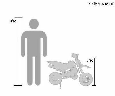 49cc 2-Stroke GAS Mini Dirt Bike for KIDS BLACK DB49A