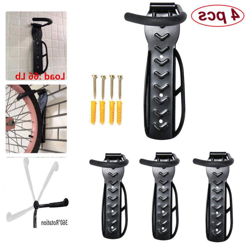 4PCs Bicycle Stand Storage Rack Wall Mount Bike Holder Syste