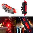 5 LED Bicycle Cycling Tail USB Rechargeable Red Warning Ligh