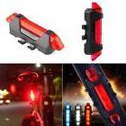 New 5 LED Bicycle Cycling Tail USB Rechargeable Red Warning
