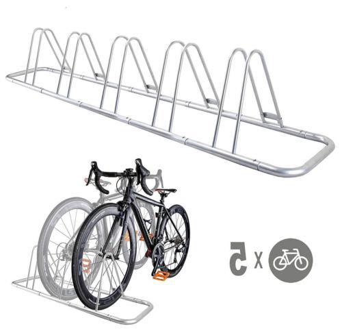 5 bike bicycle floor parking rack storage