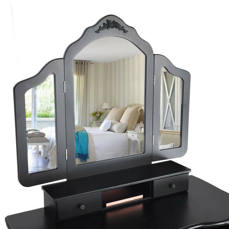 5 Folding Mirrors Table Desk