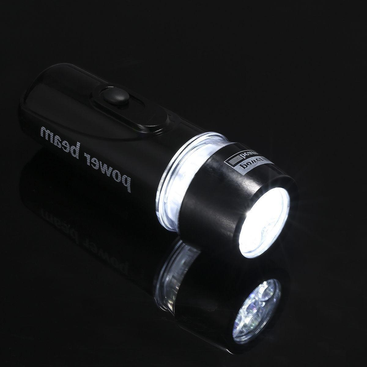 5 LED Lamp Bicycle Front Head Safety Flashlight Set