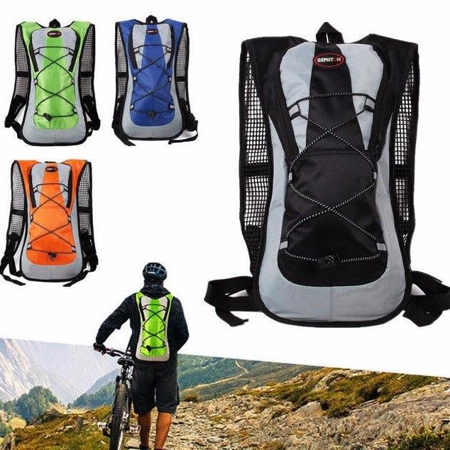 5L Bike Bicycle Hydration Pack Backpack Bag + 2L Water Bag C