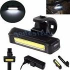 6 Modes COB 1 LED Bicycle Bike Cycling Front Rear Light USB