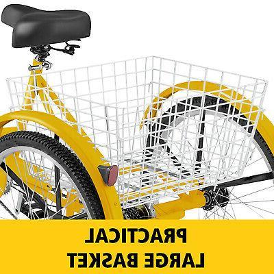 """7-Speed 24"""" 3-Wheel Tricycle Bicycle Trike Bike large"""