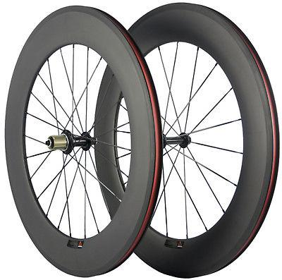 700C 88mm Clincher Carbon Fiber Wheels Bike Wheels Front & R