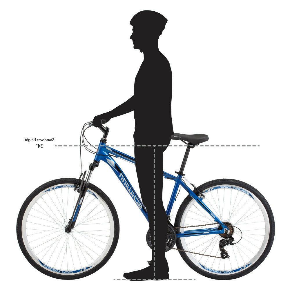 Schwinn 21-Speed GTX 1 Men's Hybrid Sports Bike-Blue