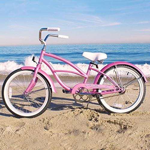Firmstrong Urban Speed Beach Cruiser 20-Inch, Pink