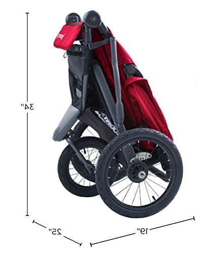 Joovy 360 Ultralight Jogging Stroller, Black