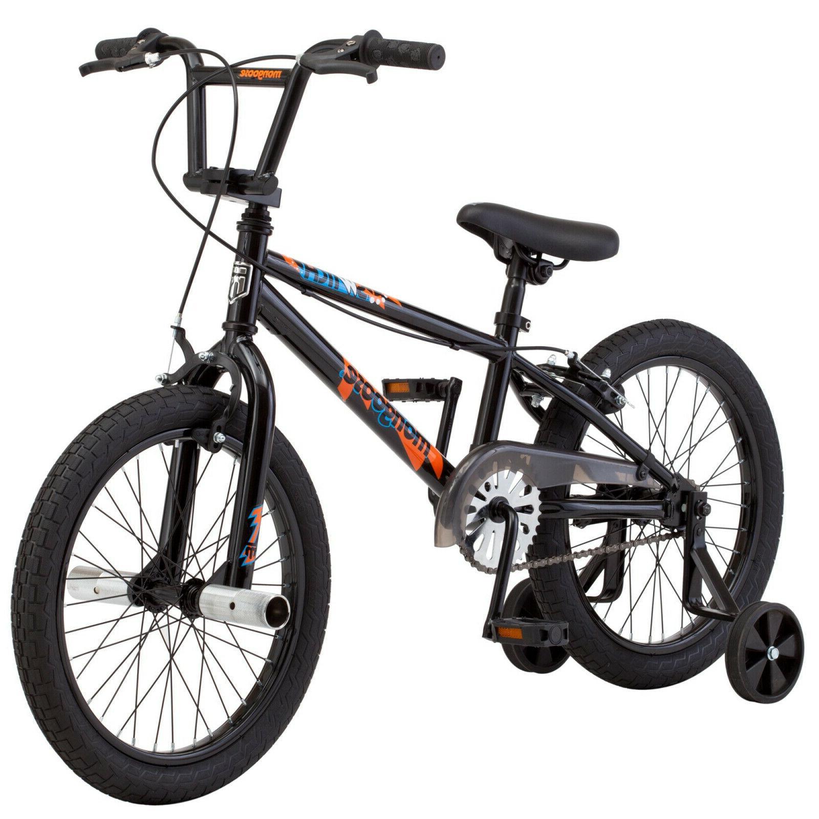 Mongoose Switch Boy's Freestyle BMX Bike with Training Wheel