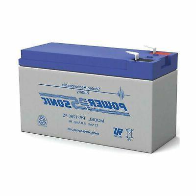 Power-Sonic PS-1290 12 Volt 9 Amp Hour Rechargeable SLA Batt