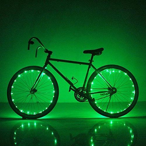 Soondar Super Bright Bicycle Bike Lights, Green